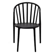 Gold Sparrow Stan Stackable Side Chair in Black (Set of 2)
