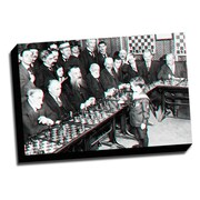 Picture it on Canvas Anaglyph Chess 3D Photographic Print on Wrapped Canvas