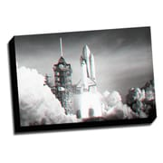 Picture it on Canvas Anaglyph Space Shuttle 3D Photographic Print on Wrapped Canvas