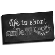 Picture it on Canvas Chalk Quotes Smile Chalkboard Quote Textual Art on Wrapped Canvas