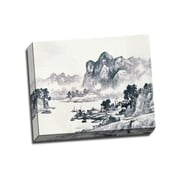 Picture it on Canvas Mountain Landscape Painting Asian style Painting Print on Wrapped Canvas