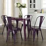 Crosley Amelia Caf  Dining Table; Purple