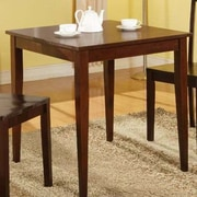 InRoom Designs Square Dining Table; Glossy Mahogany