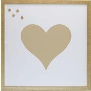 Petal Lane Patterns Heart Magnetic Board; 1' 4'' H x 1' 4''W