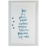 Petal Lane Watercolor Joy Love Peace Magnetic Board; 2' H x 1' 4'' W
