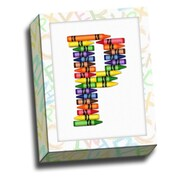 Picture it on Canvas Alphabet Crayon Kids Graphic Art on Canvas; P