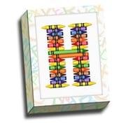Picture it on Canvas Alphabet Crayon Kids Graphic Art on Canvas; H