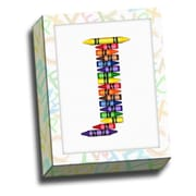 Picture it on Canvas Alphabet Crayon Kids Graphic Art on Canvas; J