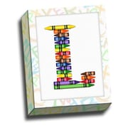 Picture it on Canvas Alphabet Crayon Kids Graphic Art on Canvas; L