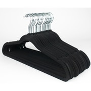 Sweet Home Collection Ultra Thin Suit Non-Slip Hanger (Set of 25); Black