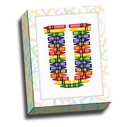 Picture it on Canvas Alphabet Crayon Kids Graphic Art on Canvas; U