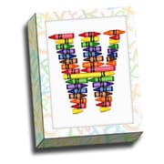 Picture it on Canvas Alphabet Crayon Kids Graphic Art on Canvas; W