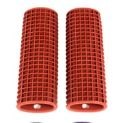 Sweet Home Collection Kitchen Utensil Pot Handle Holder Sleeve Cover Waffle Grip (Set of 2); Red