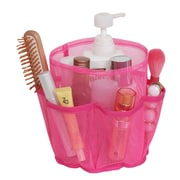 Sweet Home Collection 7 Pocket Quick Dry Cosmetic Bath Shower Counter Cabinet Bin Bag; Fuchsia