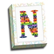 Picture it on Canvas Alphabet Crayon Kids Graphic Art on Canvas; N