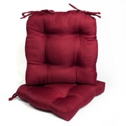 Sweet Home Collection Outdoor Dining Chair Cushion (Set of 2); Burgundy