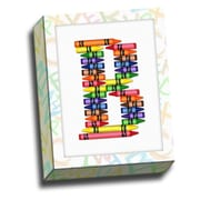 Picture it on Canvas Alphabet Crayon Kids Graphic Art on Canvas; B