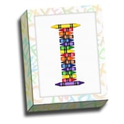 Picture it on Canvas Alphabet Crayon Kids Graphic Art on Canvas; I