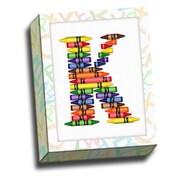 Picture it on Canvas Alphabet Crayon Kids Graphic Art on Canvas; K