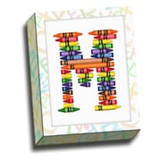 Picture it on Canvas Alphabet Crayon Kids Graphic Art on Canvas; M