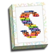 Picture it on Canvas Alphabet Crayon Kids Graphic Art on Canvas; S