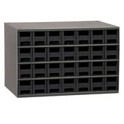 Akro Mils 19-Series Steel Cabinet with 28 Drawers; Black