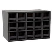 Akro Mils 19-Series 15 Drawer Storage Chest; Black