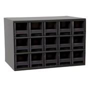 Akro Mils 19-Series Steel Cabinet with 15 Drawers; Black