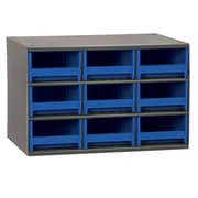 Akro Mils 19-Series 9 Drawer Storage Chest; Blue
