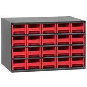 Akro Mils 19-Series 20 Drawer Storage Chest; Red