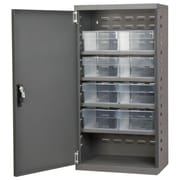 Akro Mils 38''H x 19.25''W x 13.25''D 8 Drawer Storage Cabinet; Gray/Clear