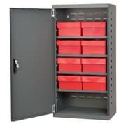 Akro Mils 19.25'' Steel Door Mini Storage Cabinet; Gray/Red