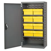 Akro Mils 38''H x 19.25''W x 13.25''D 8 Drawer Storage Cabinet; Gray/Yellow
