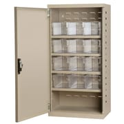 Akro Mils 38''H x 19.25''W x 13.25''D 12 Drawer Storage Cabinet; Putty/Clear