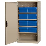 Akro Mils 38''H x 19.25''W x 13.25''D 8 Drawer Storage Cabinet; Putty/Blue