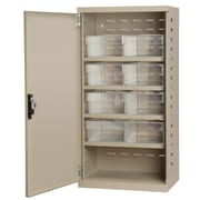 Akro Mils 38''H x 19.25''W x 13.25''D 8 Drawer Storage Cabinet; Putty/Clear