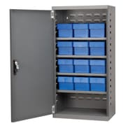 Akro Mils 38''H x 19.25''W x 13.25''D 12 Drawer Storage Cabinet; Gray/Blue