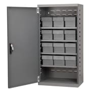 Akro Mils 38''H x 19.25''W x 13.25''D 12 Drawer Storage Cabinet; Gray
