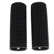Sweet Home Collection Kitchen Utensil Pot Handle Holder Sleeve Cover Waffle Grip (Set of 2); Black