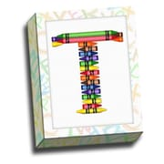 Picture it on Canvas Alphabet Crayon Kids Graphic Art on Canvas; T