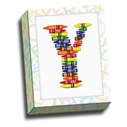 Picture it on Canvas Alphabet Crayon Kids Graphic Art on Canvas; Y