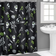 Sweet Home Collection Chalk Board 3D PEVA Shower Curtain