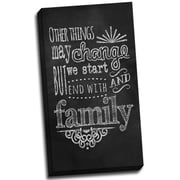 Picture it on Canvas Chalk Quotes Family Chalkboard Quote Textual Art on Wrapped Canvas