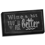 Picture it on Canvas Chalk Quotes Feel Better Chalkboard Quote Textual Art on Wrapped Canvas
