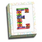 Picture it on Canvas Alphabet Crayon Kids Graphic Art on Canvas; E