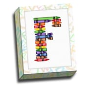 Picture it on Canvas Alphabet Crayon Kids Graphic Art on Canvas; F