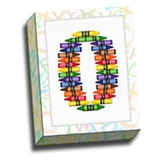 Picture it on Canvas Alphabet Crayon Kids Graphic Art on Canvas; O