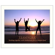 Trendy Decor 4U Teamwork Framed Photographic Print; 16'' H x 20'' W x 1.5'' D