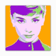 Picture it on Canvas 8 Bit Our Fair Lady Modern Graphic Art on Wrapped Canvas