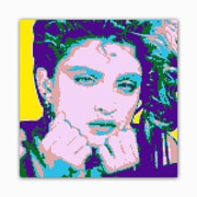 Picture it on Canvas 8 Bit Queen of Pop Modern Graphic Art on Wrapped Canvas